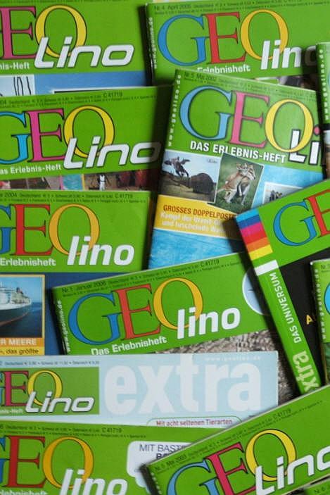 Zeitschriften Geo, Geolino, Geolino Extra