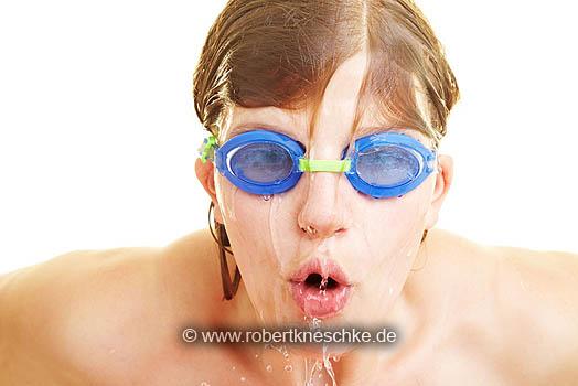 Schnelle Schwimmerin