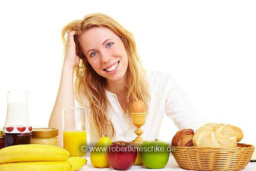 Lachen am Frühstückstisch
