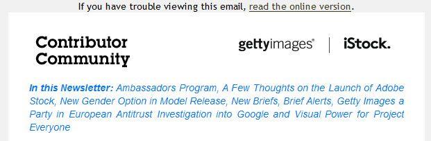 Der Beginn des Getty-Newsletters