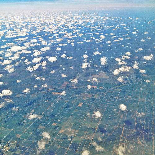 Über den Wolken von Texas, USA