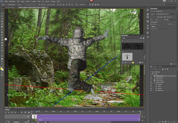Zombie-Soldat springt durch einen Wald? Mit Adobe Fuse ein Kinderspiel...