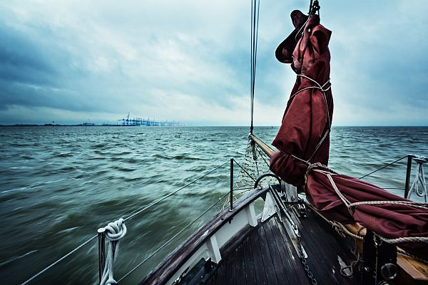 Dieses Bild ist auf dem Rückweg von einem Segeltörn auf der Nordsee entstanden
